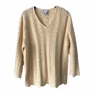 Northern Reflections Yellow Knit Sweater XL